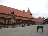 Castelo na cidade de Trakai, perto de Vilnius, Lituânia, Europa Oriental