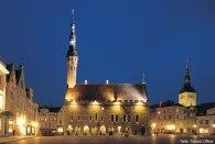 Centro Histórico de Tallinn, Estônia, Centro de Riga, Letônia, Castelo na cidade de Trakai, perto de Vilnius, Lituânia, Europa Oriental