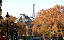 França, Paris, Tour Eiffel vista do Quartier Latin