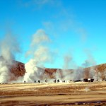 Gêiseres de El Tatio, no Altiplano chileno