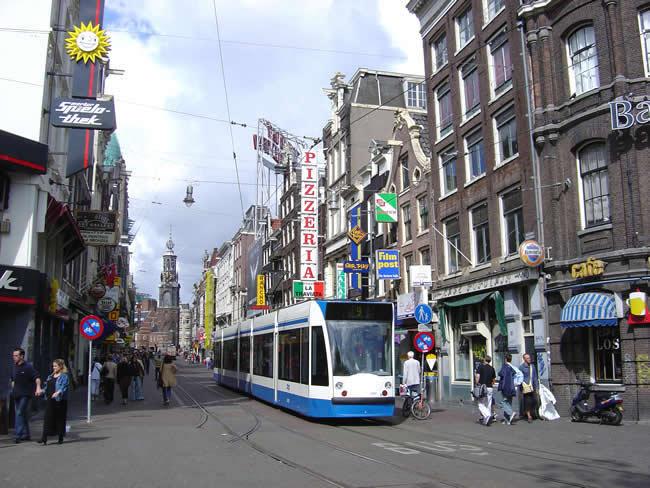 Holanda, os bondes de Amsterdã
