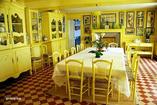 Sala de jantar da casa de Claude Monet - Foto Ariane Cauderlier