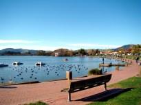 Lago de Rotorua, North Island, Nova Zelândia