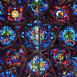 Os famosos vitrais da catedral de Reims