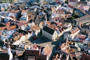 Panorâmica de Tallinn, Estônia, Europa Oriental