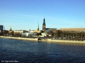 Panorama de Riga, Letônia, Europa Oriental