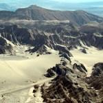 Formações rochosas no deserto do Atacama, Chile