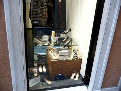 Calçados femininos, na Via del Corso, Roma