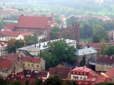 Vilnius, capital da Lituânia, Europa Oriental