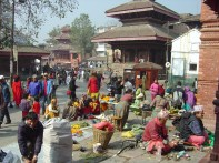Katmandu, Nepal,centro histórico junto do Palácio Real