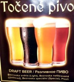 A cerveja (pivo) tcheca, considerada por muitos a melhor do mundo