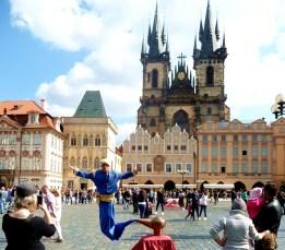 Espétáculo de rua, Praga