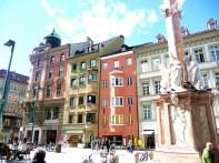 Innsbruck, praça do centro histórico
