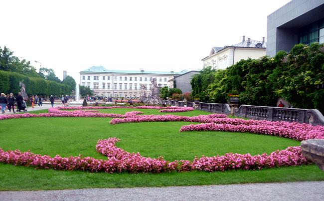 Jardim em Salzburgo, Áustria