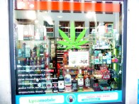 Loja que vende legalmente maconha em Zurich