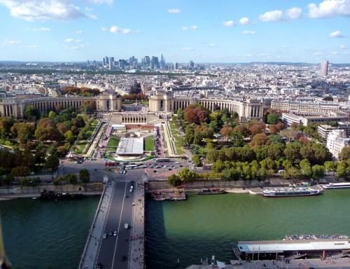 Paris, Trocadéro visto do alo da Tour Eiffel