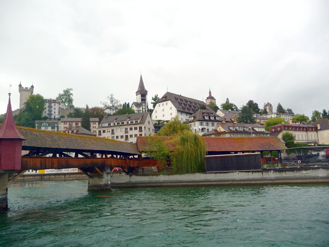 Vista do centro histórico de Lucerna