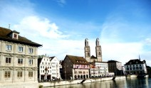 Zurich, margens do rio Limmat