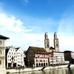 Zurich, margens do rio Limmat