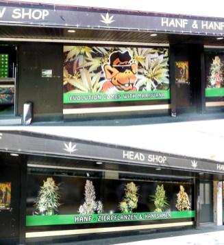 Loja que vende maconha em Viena