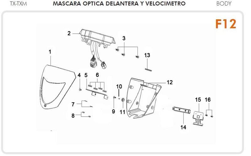 Keeway TX-TXM-200 Manual de Reparación PDF Manuales