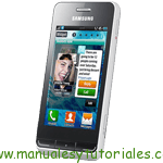 Samsung Wave723 S7230E manual guia usuario smartphone gama alta
