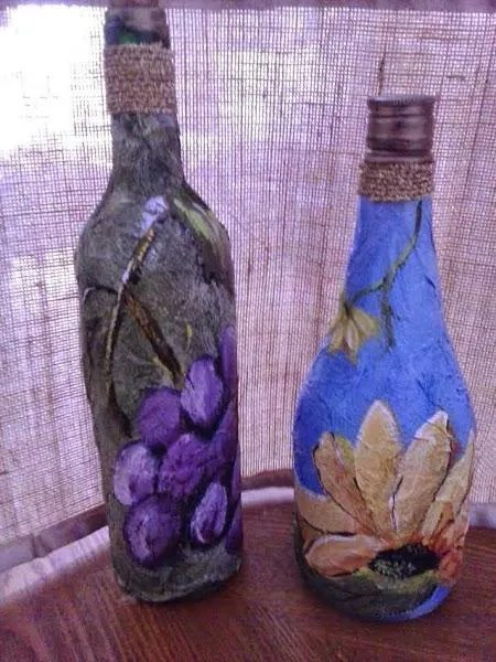 Reciclaje Ideas para decorar botellas de cristal o de