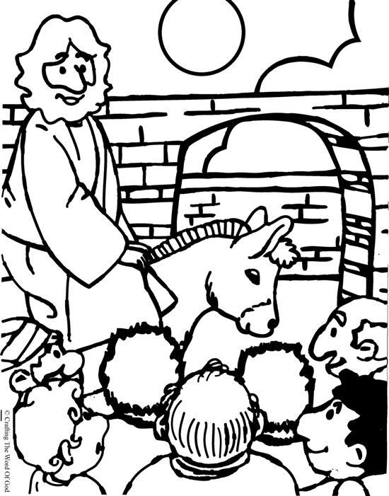 Jesus Entra A Jerusalen- Pagina De Colorear « Manualidades