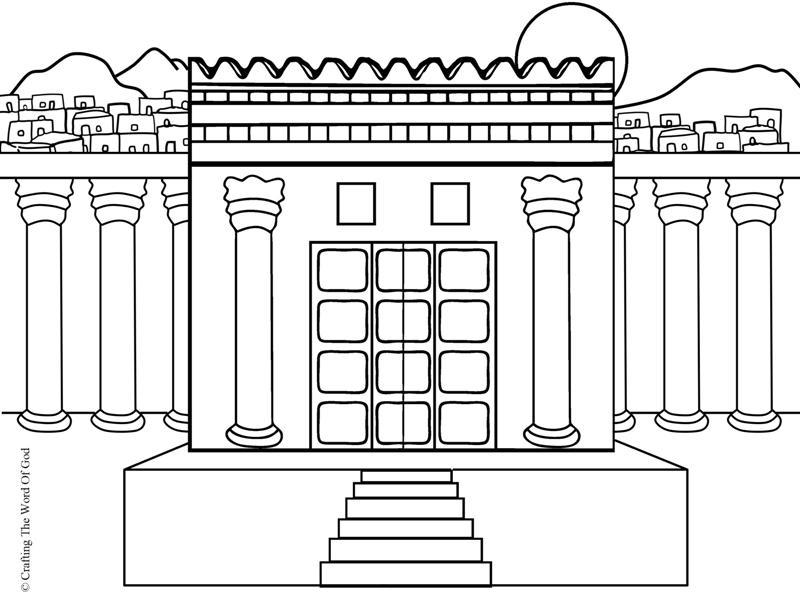 El Templo De Salomon- Pagina De Colorear « Manualidades