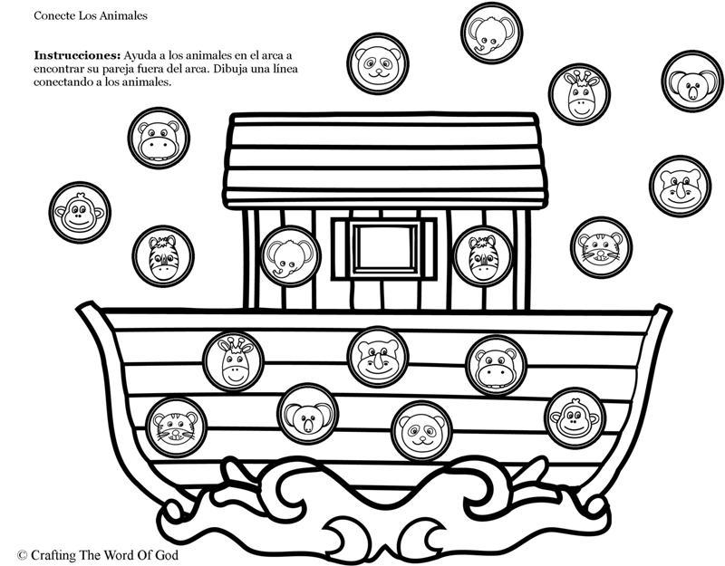 Arca De Noe Conecte Los Animales- Pagina De Actividades