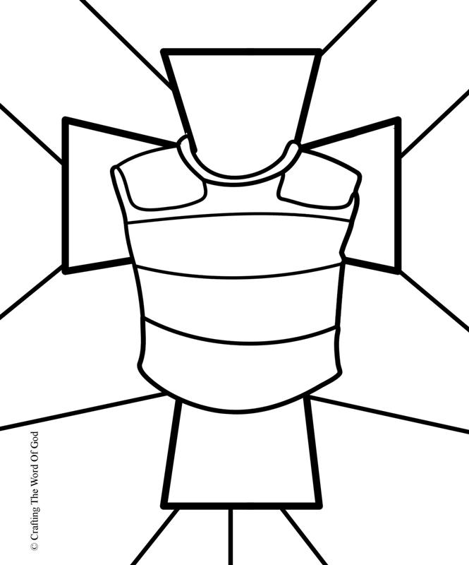 Coraza De Justicia- Pagina De Colorear « Manualidades Biblicas