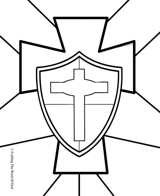Escudo De La Fe- Pagina De Colorear « Manualidades Biblicas