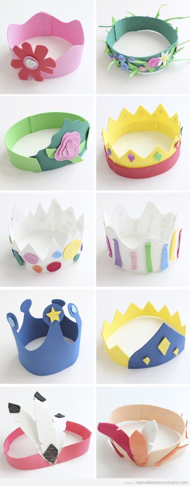 10 coronas de goma eva para disfraces y cumplea os for Decoracion de goma eva para cumpleanos