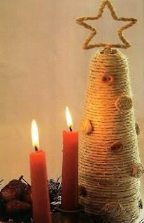 rbol de Navidad pequeo de estilo rstico