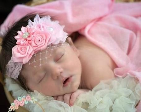 Diademas de flores para bebes muy tiernas y fciles de hacer  Manualidades para hacer en casa