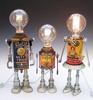 Ilumina tu hogar usando lamparas con material reciclable