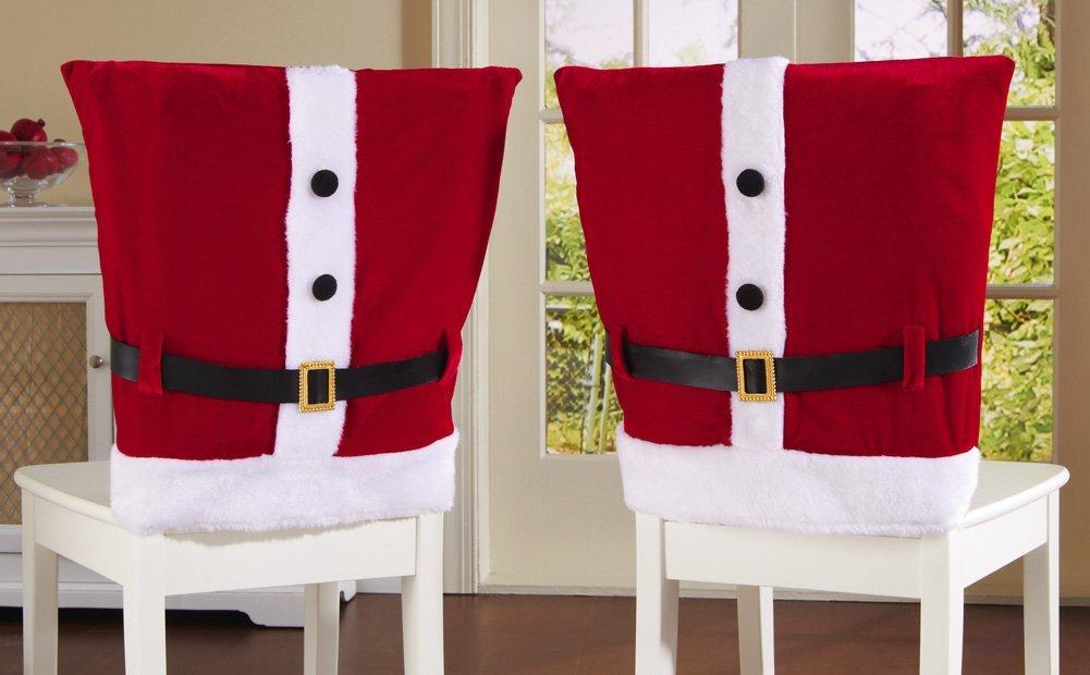 chair covers for xmas wooden parts ideas para hacer forros navideños de sillas - moda & manualidades