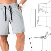 Shorts de hombre con moldes