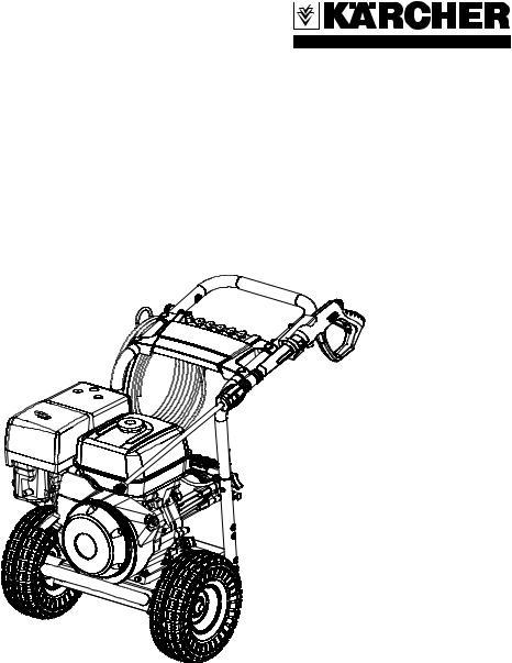 Karcher G 4000 OH servo press User Manual