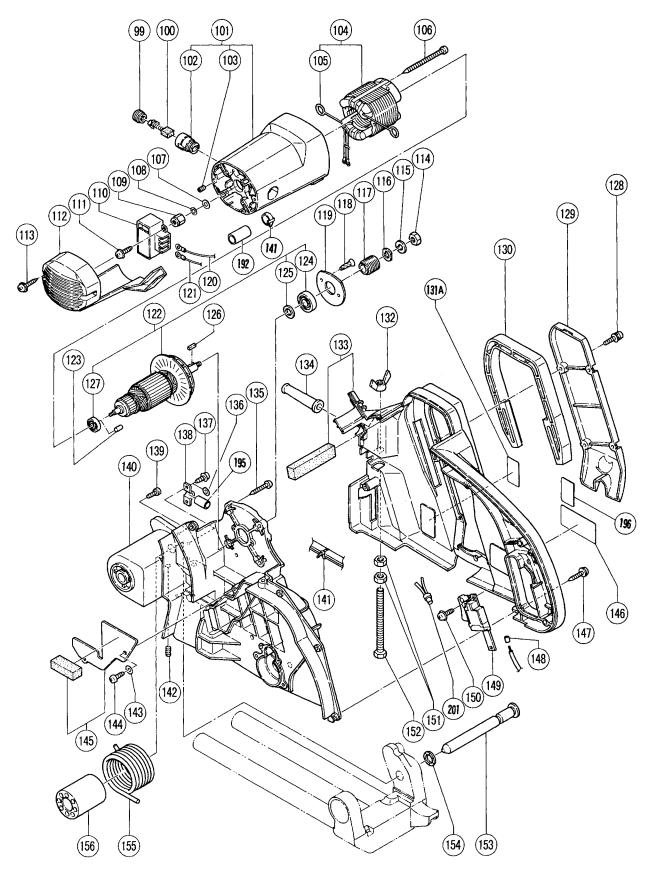 Hitachi C12FSA ELECTRIC TOOL PARTS LIST User Manual