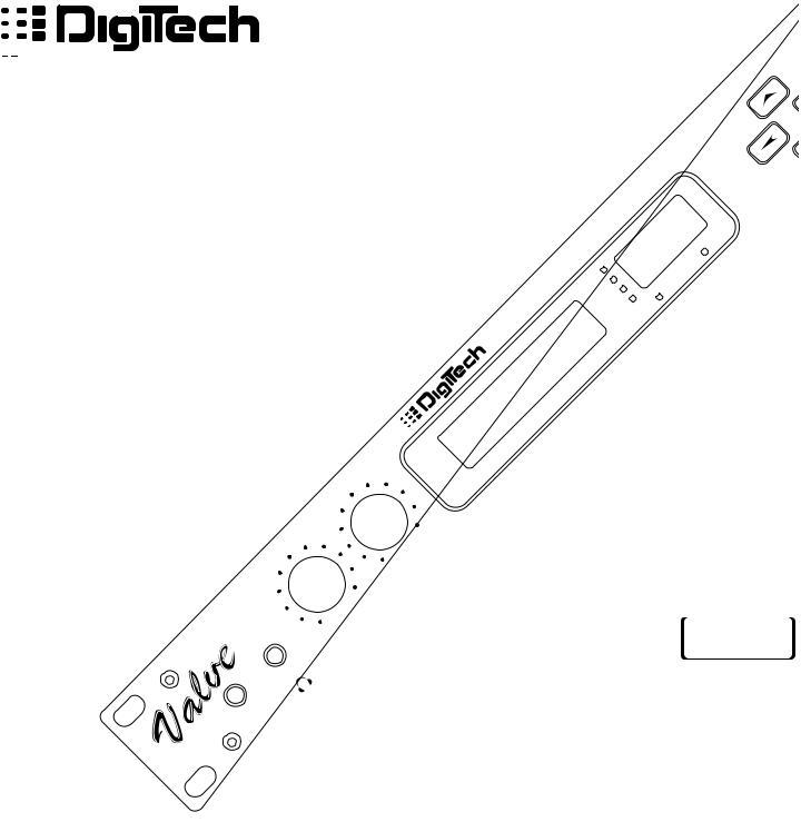 DigiTech VALVEFX User Manual