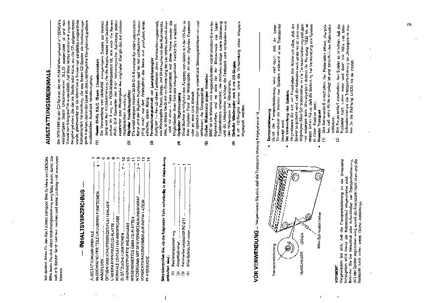 Denon DCD1560 Service Manual