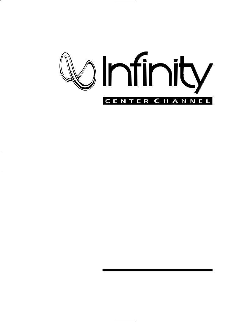 Infinity CC-2 User Manual