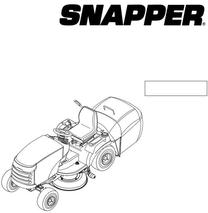 Snapper RD2140 (2690774) User Manual
