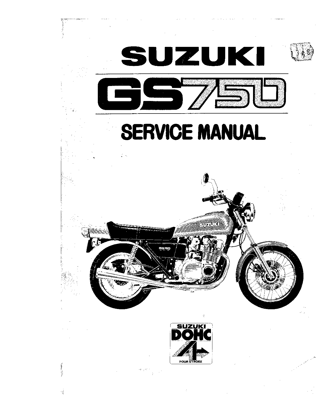 Suzuki GS750 Service Manual