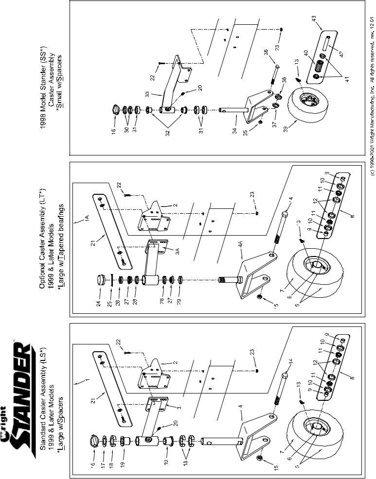 Wright Manufacturing Stander 48, Stander 52, Stander 61