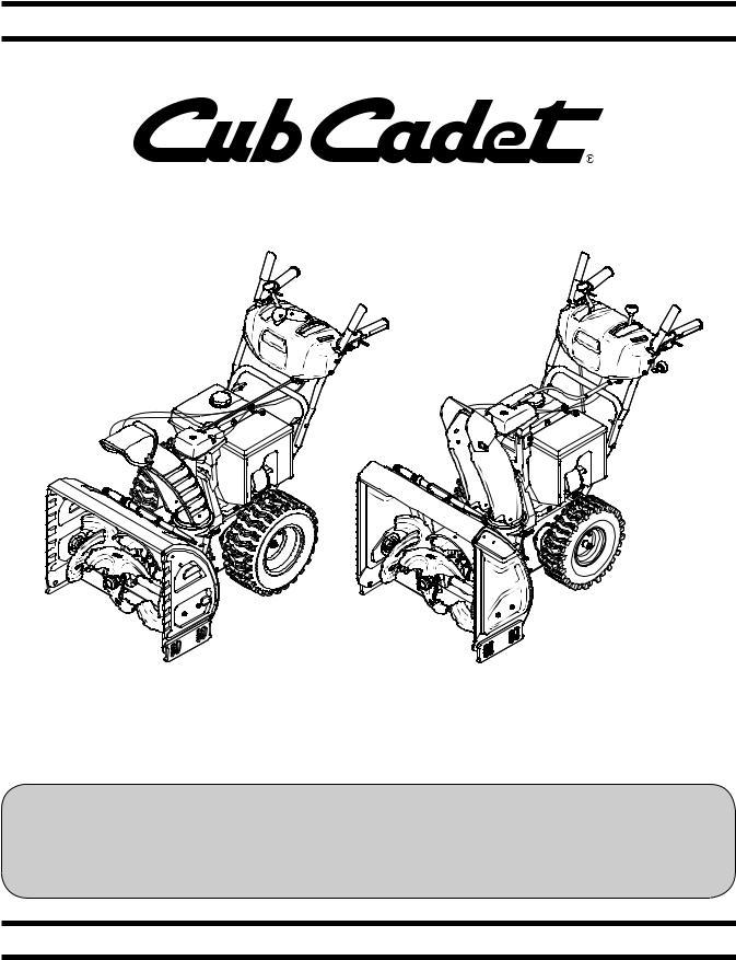 Cub cadet 3X 28 HD User Manual