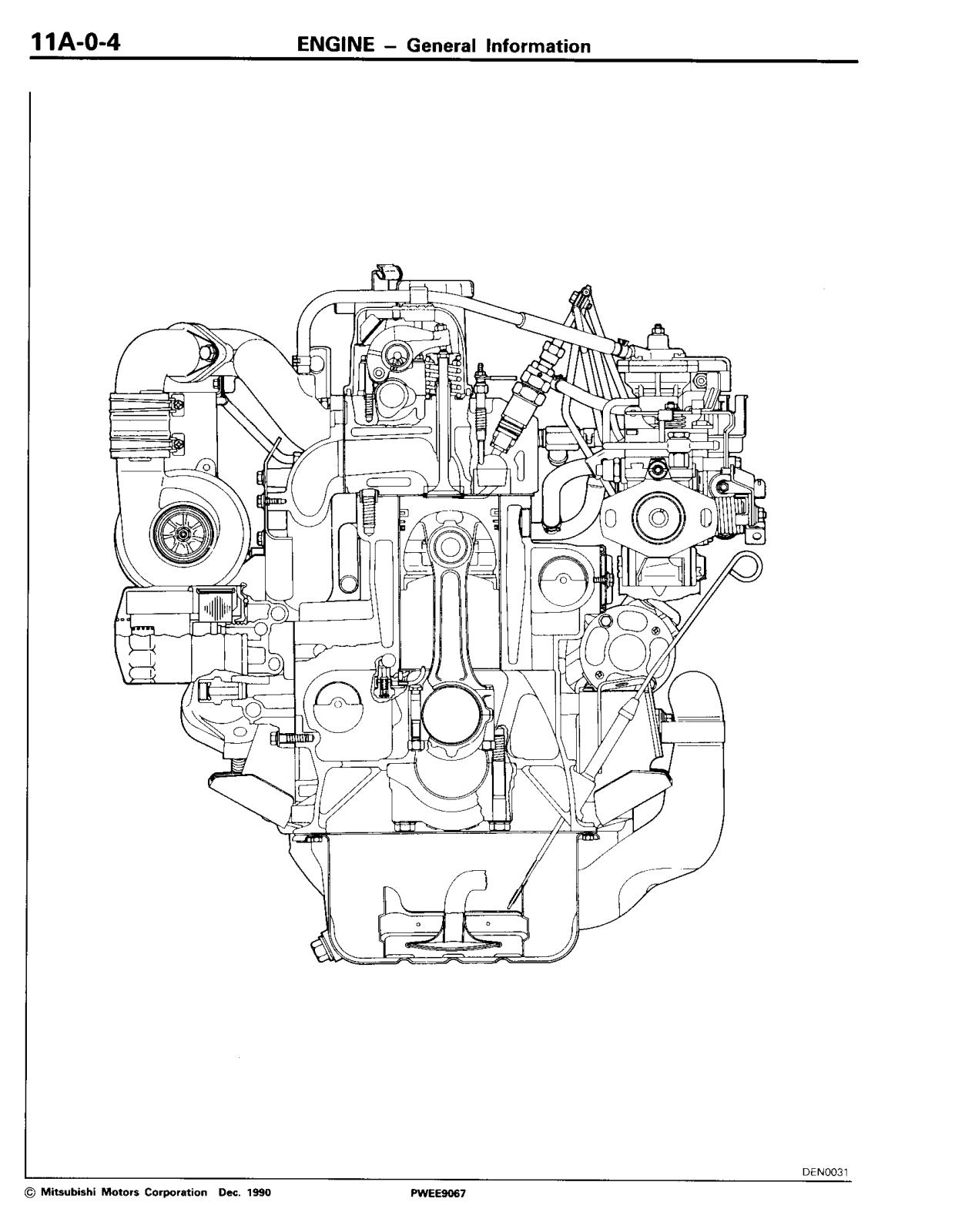 Mitsubishi 4D56, 4D-56 4D 56 1991 1993 User Manual