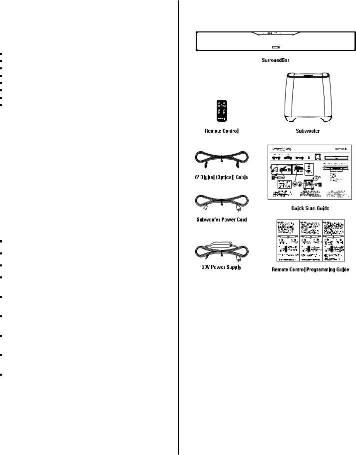 Polk Audio SURROUNDBAR 3000 User Manual