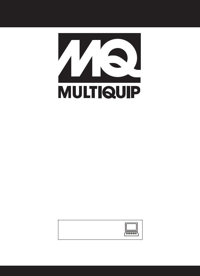 Multiquip QP4TZ, Trash Pump QP4TZ User Manual